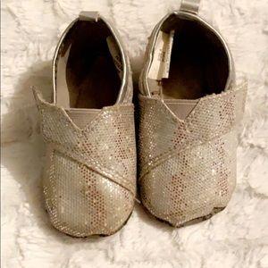 Baby Girl Glitter Toms